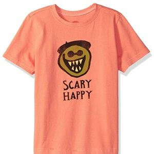 Life is Good Fresh Coral Large Scary Happy T-shirt